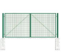 Ворота распашные DFence 3000*2000 с проуш, петли 2р, 2 фикс. Створки
