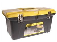 Ящик для инструментов 22 JUMBO пластмассовый с 2-мя съемными органайзерами в крышке, отсеком для отверточных вставок и мета
