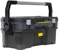 Ящик для инструментов 24 открытый профессиональный пластмассовый со съемным кейсом