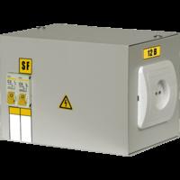 Ящик с понижающим тр-ом ЯТП-0,25 220/42 В 0,25кВА, 2х1ф. автомата, розетка