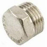 Заглушка 3/4 НР латунь/никель GF ( уп.10 шт.)