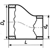 Переход эксцентрический нержавеющий 57х4-32х3 12х18н10т ГОСТ 17378